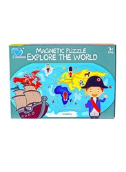 31-Piece Magnetic Map Explore the World Puzzle