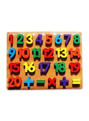 25-Piece Set Board Digits Puzzle