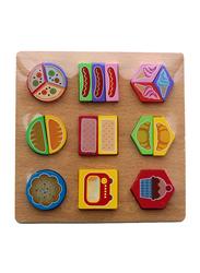 9-Piece Set Paired Food Shape Puzzle