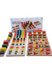 12 Wooden Puzzle Set