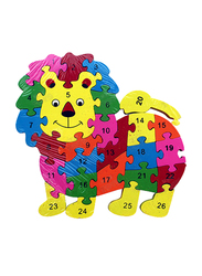 26-Piece Set Lion Letters and Numbers Jigsaw Puzzle