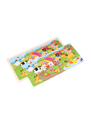 96-Piece Set Wooden Farm Jigsaw Puzzle