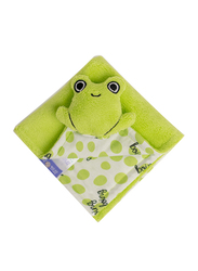 Milk&Moo Cacha Frog Baby Security Blanket, Newborn, Green