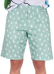 BiggDesign Anemoss Sail Patterned Chino Shorts for Men, Small, Green