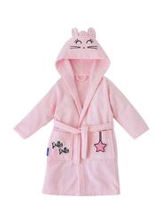 Milk & Moo Chancin Velvet Hooded Robe for Kids, Pink