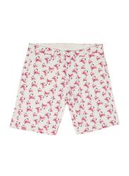 BiggDesign Anemoss Crab Patterned Chino Shorts for Men, Medium, Red