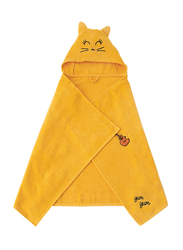 Milk & Moo Tombish Cat Velvet Hooded Towel for Babies, Orange