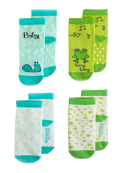 Milk & Moo Cacha Frog and Baby Sangaloz Snail 4 In 1 Baby Socks, 0-12 Months, Multicolour