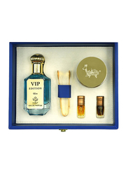 Al Mesk Al Arabi 5-Piece VIP Edition Collection Gift Set for Men, VIP Edition Perfume 100ml EDP, Dhukhoon 60gm, 2 x 3ml Concentrated Oil, 1 Mahbash Tong