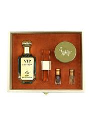 Al Mesk Al Arabi 5-Piece VIP Edition Collection Gift Set Unisex, VIP Edition Perfume 100ml EDP, Dhukhoon 60gm, 2 x 3ml Concentrated Oil, 1 Mahbash Tong