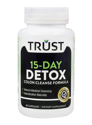 Trust 15-Day Detox Colon Cleanse Formula Dietary Supplement, 30 Capsules