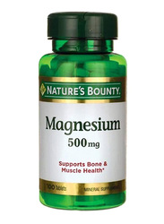 Nature's Bounty Magnesium Mineral Supplement, 500mg, 100 Tablets