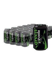 Green Cola Carbonated Soft Drink, 24 Cans x 330ml