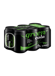 Green Cola Carbonated Soft Drink, 6 Cans x 330ml