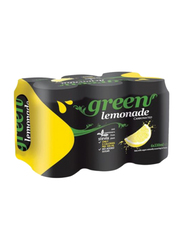 Green Cola Lemon Carbonated Soft Drink, 6 Cans x 330ml