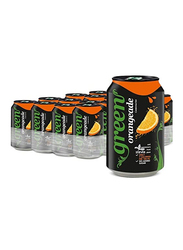 Green Cola Orange Carbonated Soft Drink, 24 Cans x 330ml