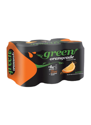 Green Cola Orange Carbonated Soft Drink, 6 Cans x 330ml
