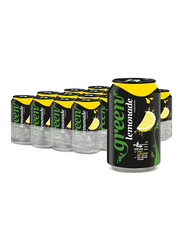 Green Cola Lemon Carbonated Soft Drink, 24 Cans x 330ml