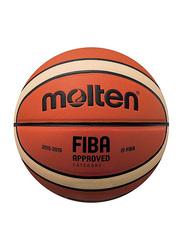 Molten BGMX Synthetic Leather Basketball, Size 7, Orange/Beige