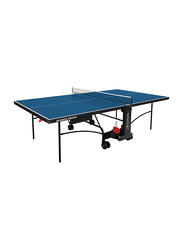 Garlando Advance Indoor Foldable Table Tennis Table with Wheels, GDC-277i, Blue