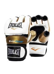 Everlast Medium Everstrike Training Gloves for Women, EVP00000661, White/Gold