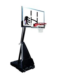 Spalding 60-inch NBA Platinum Acrylic Basketball System, SN68562CN, Black