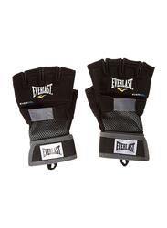 Everlast Large Evergel Hand Wrap Gloves, EVER 4355BL, Black
