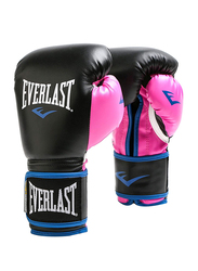 Everlast 12-oz Women Powerlock Boxing Gloves, EV00000745, Black/Pink