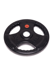 Harley Fitness Olympic Rubber Coated Weight Plate, 20KG, Black