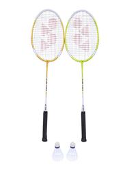 Yonex GR505 2 Badminton Racket and 2 Shuttle Set, Multicolor