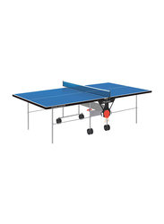 Garlando Training Outdoor Foldable Table Tennis Table with Wheels, GDC-113E, Blue