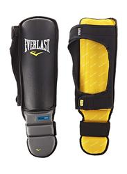 Everlast L/XL Evergel Shin Guards, EV950XL, Black/Yellow