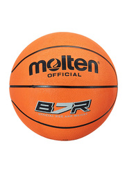 Molten B7R Rubber Basketball, Size 7, Orange
