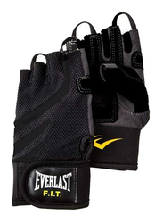 Everlast EVP00000713 Weight Lifting Gloves, Black