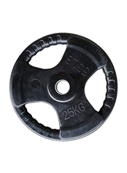 Harley Fitness Olympic Rubber Coated Weight Plate, 25KG, Black