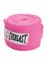 Everlast 108-inch Level 1 Woven Cotton Boxing Hand Wraps, EVER 4455PNK, Pink