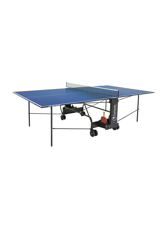 Garlando Training Indoor Foldable Table Tennis Table with Wheels, GDC-113i, Blue