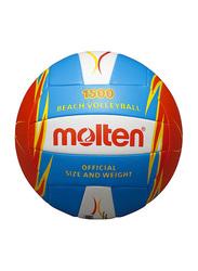 Molten Machine Stitched Beach Volleyball, Blue/Red