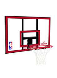 Spalding 44-Inch NBA Combo Polycarbonate Basketball Back Board, SN79351CN, Red/Black