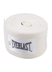 Everlast 120-inch Level 1 Woven Cotton Boxing Hand Wraps, EVER 4455WHT, White