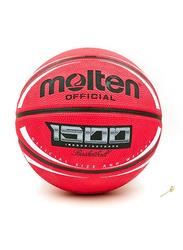 Molten Deep Channel Rubber Basketball, Wine Red/White/Black
