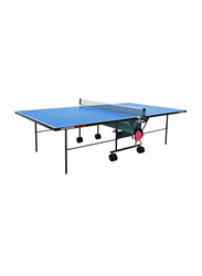Stiga Outdoor Roller 4mm Table Tennis Table, A-110-04, Blue