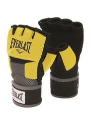 Everlast Medium Evergel Boxing Hand Wraps, EVER 4355M, Black/Yellow
