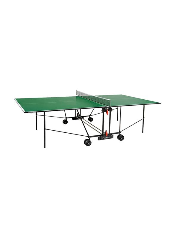 Garlando Progress Indoor Foldable Table Tennis Table with Wheels, GDC-162i, Green