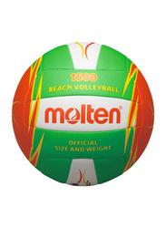 Molten Machine Stitched Beach Volleyball, Green/Orange