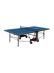 Garlando Master Indoor Foldable Table Tennis Table with Wheels, GDC-373i, Blue