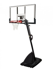 Spalding 54-Inch NBA Gold Basketball System, SN75746CN, White/Black