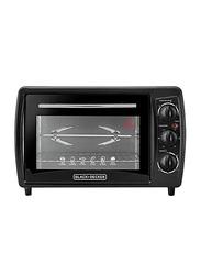 Black+Decker 19L Double Glass Toaster Oven, TRO19RDG-B5, Black