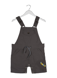 Jam Cotton Skate Patch Dungaree for Infant Boys, 9-12 Months, Grey