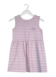 Jelliene Cotton Striped Sleeveless Dress for Baby Girls, 6-9 Months, Pink